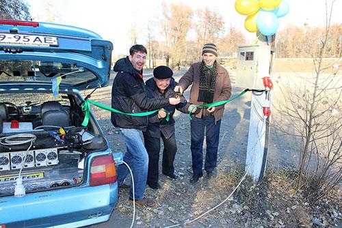 Открытие совместного с Electrocars_club зарядного щитка в Лубнах (совместно с ЭлектрокарсКлуб)
